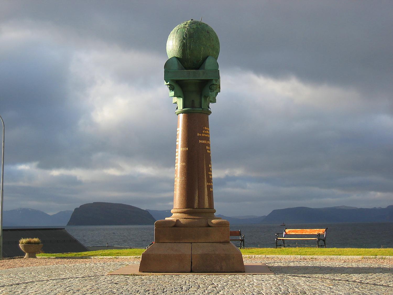 Геодезическая дуга Струве, расположенная на территории десяти стран