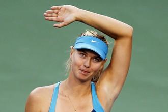 Мария Шарапова в матче с Марией Кириленко