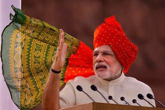 9. Премьер-министр Индии Нарендра Моди