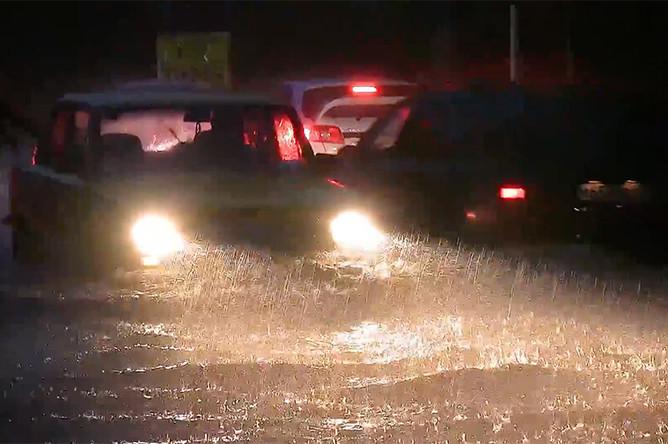 Сильный дождь в Судаке, 18 августа 2017