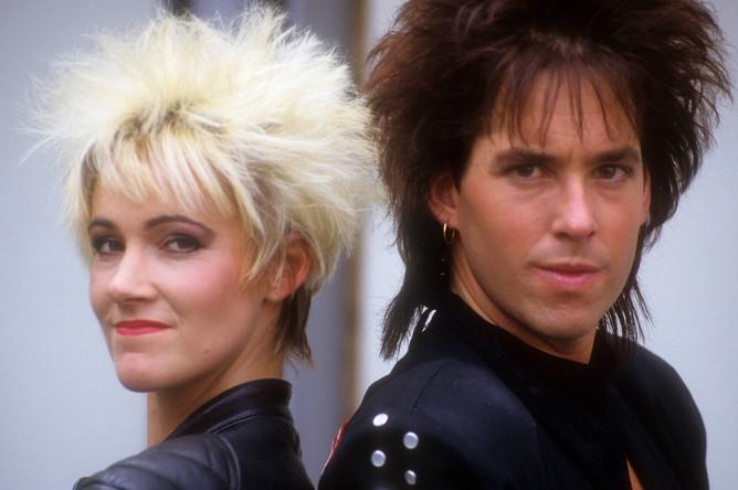 Участники поп-группы Roxette Мари Фредрикссон и Пер Гессле, 1991 год