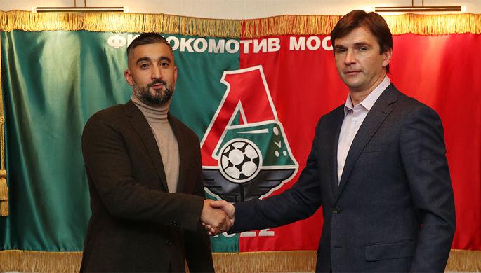 Александр Самедов (слева) с новым генеральным директором «Локомотива» Владимиром Леонченко