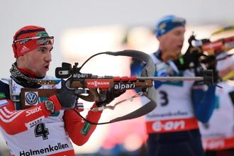Биатлонист сборной России Александр Логинов