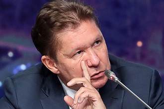 Председатель правления ПАО «Газпром» Алексей Миллер на пресс-конференции по итогам годового собрания акционеров компании, 28 июня 2019 года