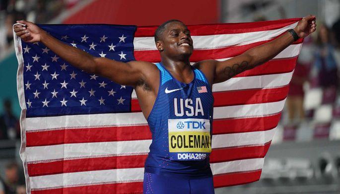 Американский легкоатлет Кристиан Коулман
