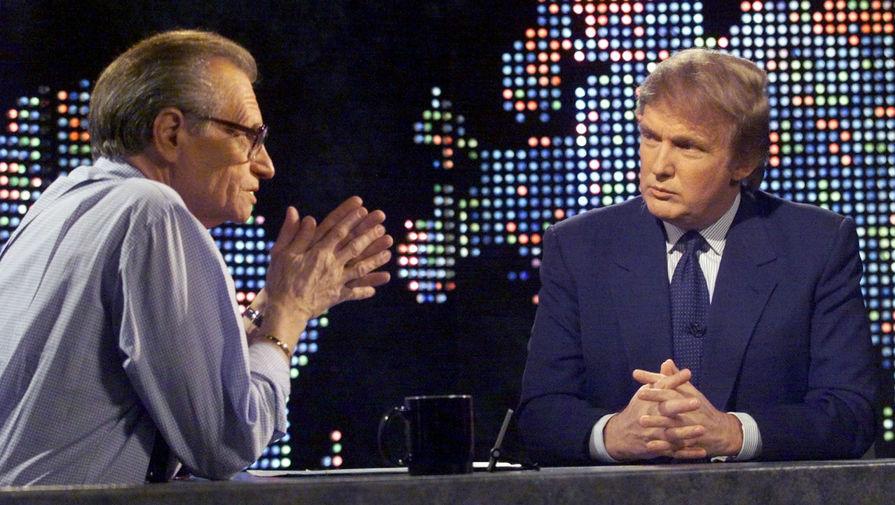 Ларри Кинг и миллиардер Дональд Трамп, 1999 год