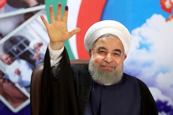 Президент Ирана Хасан Роухани, 14 апреля 2017 года
