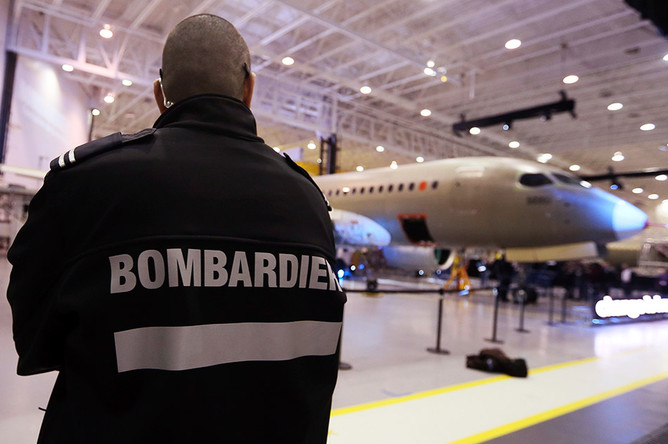 ����������� ������ �� ������� ��������� �������� ������ ��������� CS300 ��������� Bombardier...
