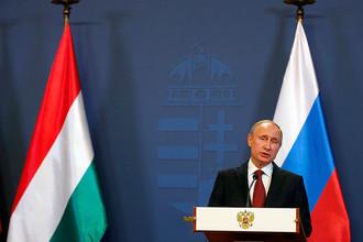 Президент РФ Владимир Путин на переговорах в Венгрии