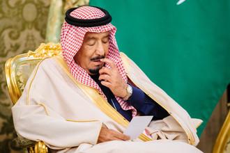 Король Саудовской Аравии Сальман Бен Абдель Азиз Аль Сауд в Кремле, 5 октября 2017 года