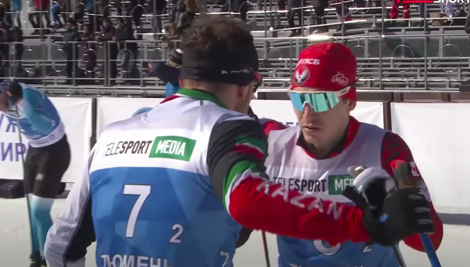 Лыжники Владислав Афанасьев и Антон Быков на чемпионате России