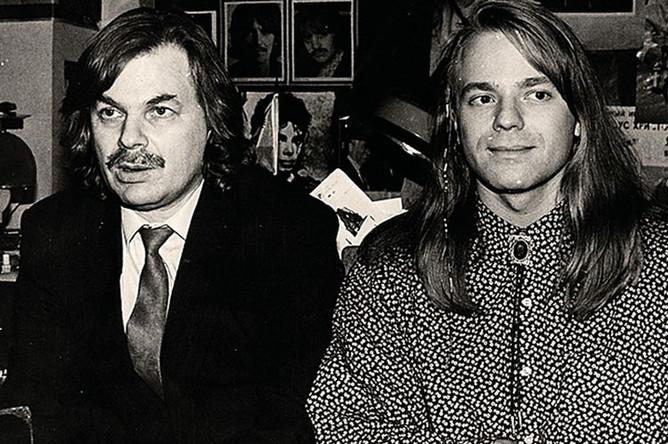 Музыкант Владимир Пресняков-старший с сыном