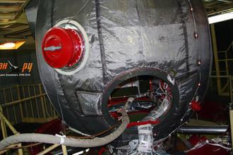 Внешний вид бытового отсека «Союза» в контрольно-измерительной станции РКК «Энергия»