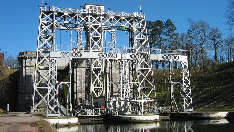 Четыре судоподъемника на канале Дю-Сантр и их окружение, Ля-Лувьер и Ле-Рейкс, провинция Эно, Бельгия