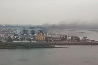 В Нижнем Новогороде загорелся стадион, строящийся к ЧМ-2018 по футболу