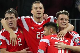 Во время отборочного матча чемпионата Европы по футболу 2020 между сборными России и Шотландии, 10 октября 2019 года