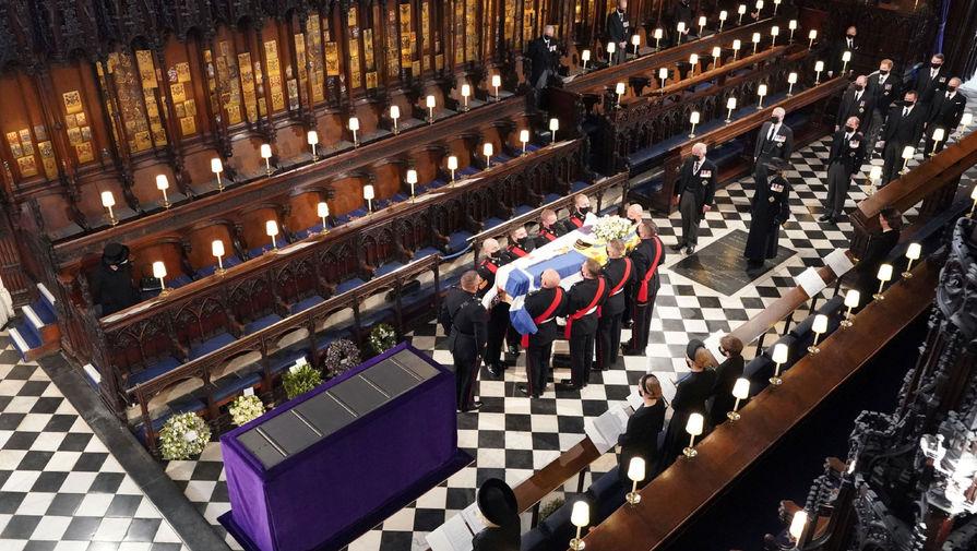 Отпевание супруга королевы Великобритании Елизаветы II герцога Эдинбургского Филиппа в часовне Святого Георгия, 17 апреля 2021 года