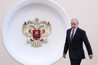 Президент России Владимир Путин перед началом церемонии инаугурации в Кремле, 7 мая 2018 года