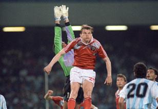 Горлукович на ЧМ-1990 в матче против аргентинцев (0:2)