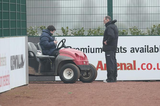 Технический персонал тренировочного комплекса «Арсенала»