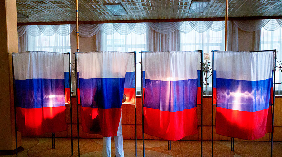 Избирательный участок в Благовещенске
