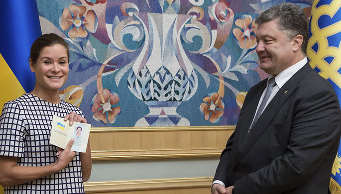 Мария Гайдар и президент Украины Петр Порошенко