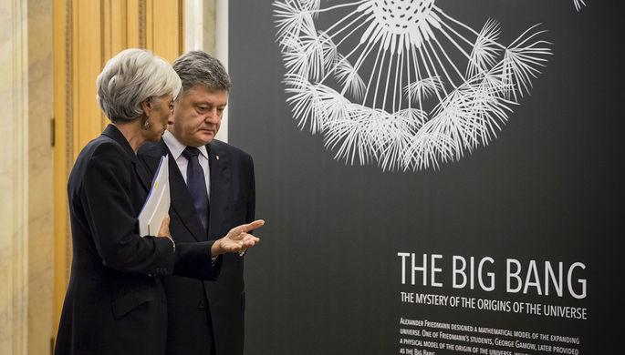 Президент Украины Петр Порошенко и управляющий директор МВФ Кристин Лагард