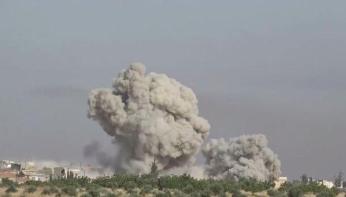 Столп дыма: как российские военные атаковали в Сирии