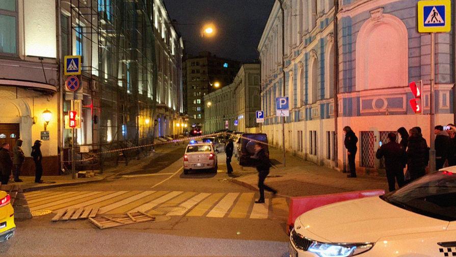 Перекрытие в центре Москвы после перестрелки у здания ФСБ России на Лубянке, 19 декабря 2019 года