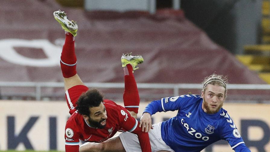Мохамед Салах в матче «Ливерпуль» — «Эвертон»