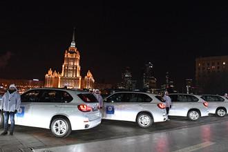 Автомобили немецкой марки BMW, подаренные российским спортсменам- победителям и призерам XXIII зимних Олимпийских игр в Пхенчхане, 28 февраля 2018 года