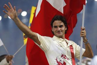 Роджер Федерер на Олимпиаде в Пекине