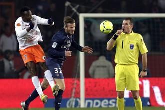 Дэвид Бекхэм вышел на замену в матче с «Монпелье»