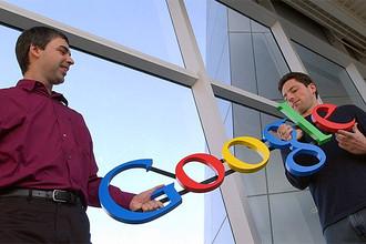Основатели компании Google Ларри Пейдж и Сергей Брин