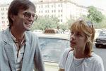 Актеры Андрей Харитонов и Вера Глаголева наXVI Московском международном кинофестивале, 1989 год