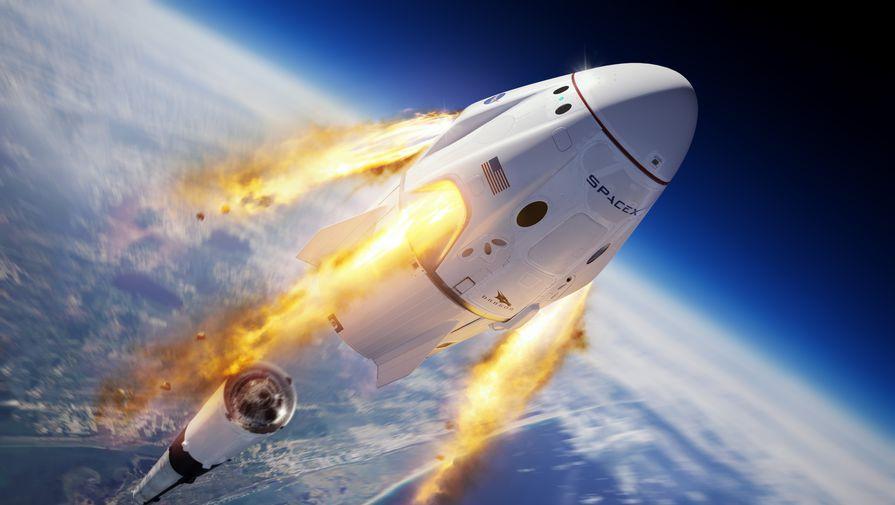 Корабль Crew Dragon уцелел при взрыве ракеты Falcon