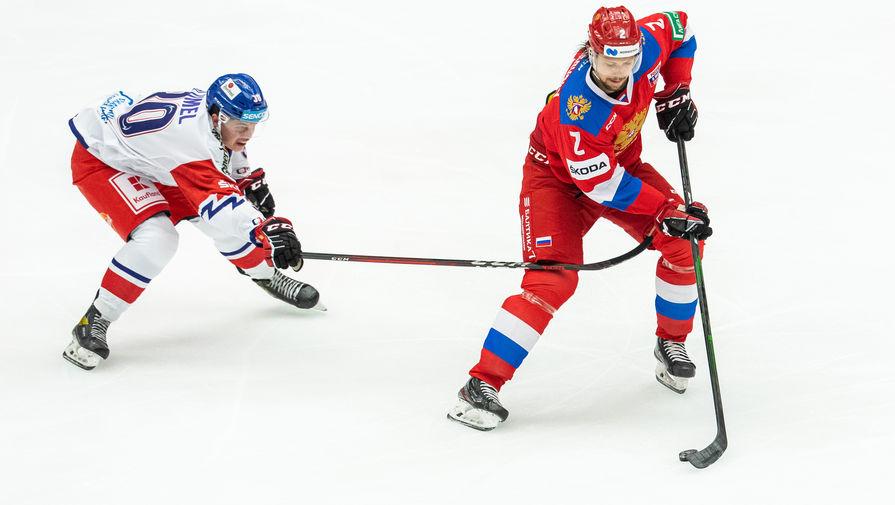 Эпизод матча Россия- Чехия