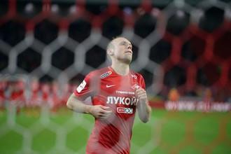 Денис Глушаков после запоротого пенальти
