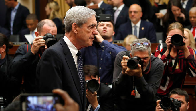 Спецпрокурор США по «российскому делу» Роберт Мюллер во время выступления в конгрессе, 24 июля 2019 года