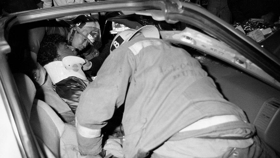Последствия автомобильной аварии в которой пострадал Литл Ричард, 1985 год
