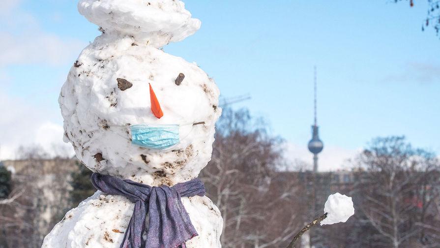 В Берлине прошел снегопад