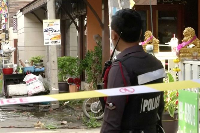 Последствия взрыва в туристическом районе Хуахина