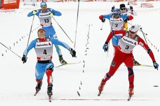Николай Морилов едва успел финишировать первей Петтера НОртуга