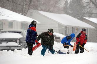На США обрушился самый мощный снегопад за столетие