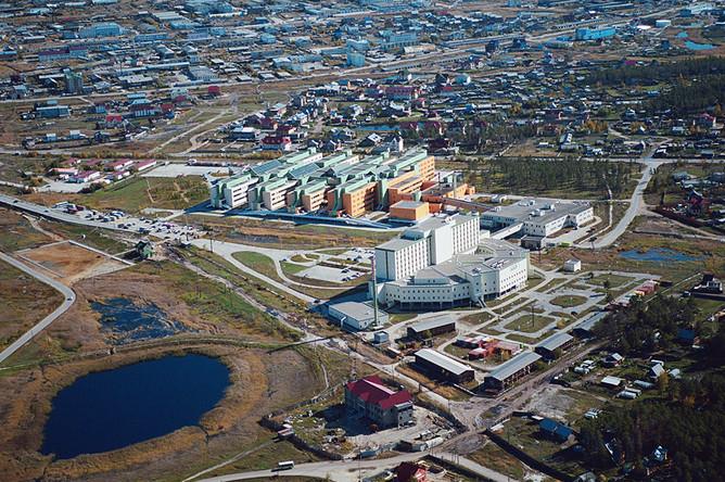 Якутск, крупнейший город в зоне вечной мерзлоты