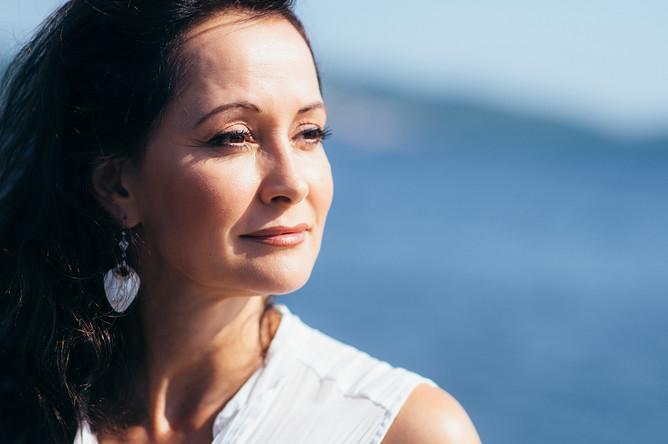 Актриса Ольга Кабо на фотосессии во время IX фестиваля музыки и искусств «Тремоло»