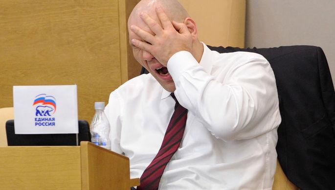 Депутат Госдумы Николай Валуев на пленарном заседании, февраль 2012 года