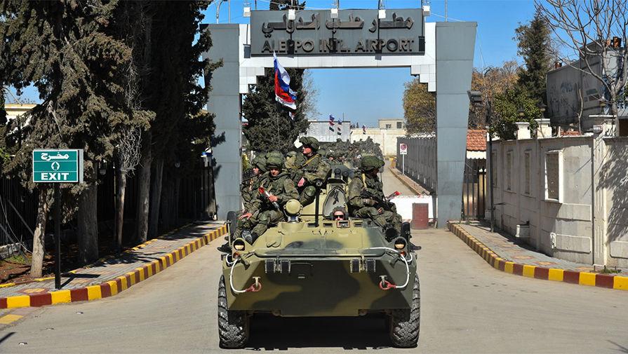 Российские военнослужащие в сирийском Алеппо, февраль 2017 года
