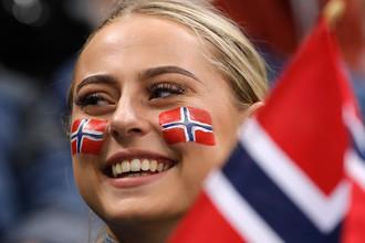 Болельщица из Норвегии
