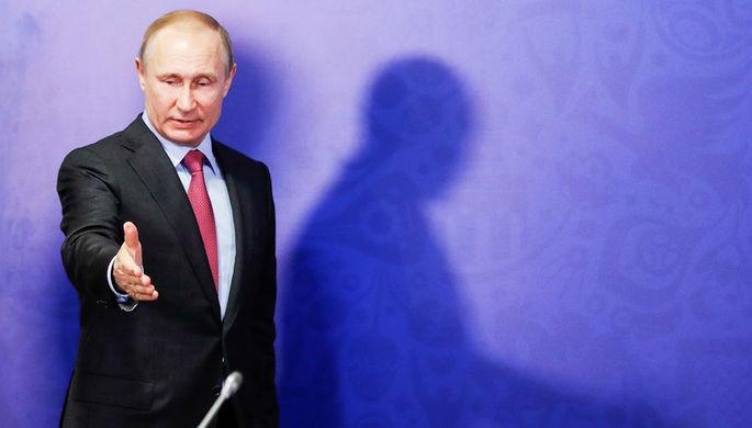 Президент России Владимир Путин во время заседания наблюдательного совета АНО «Организационный...